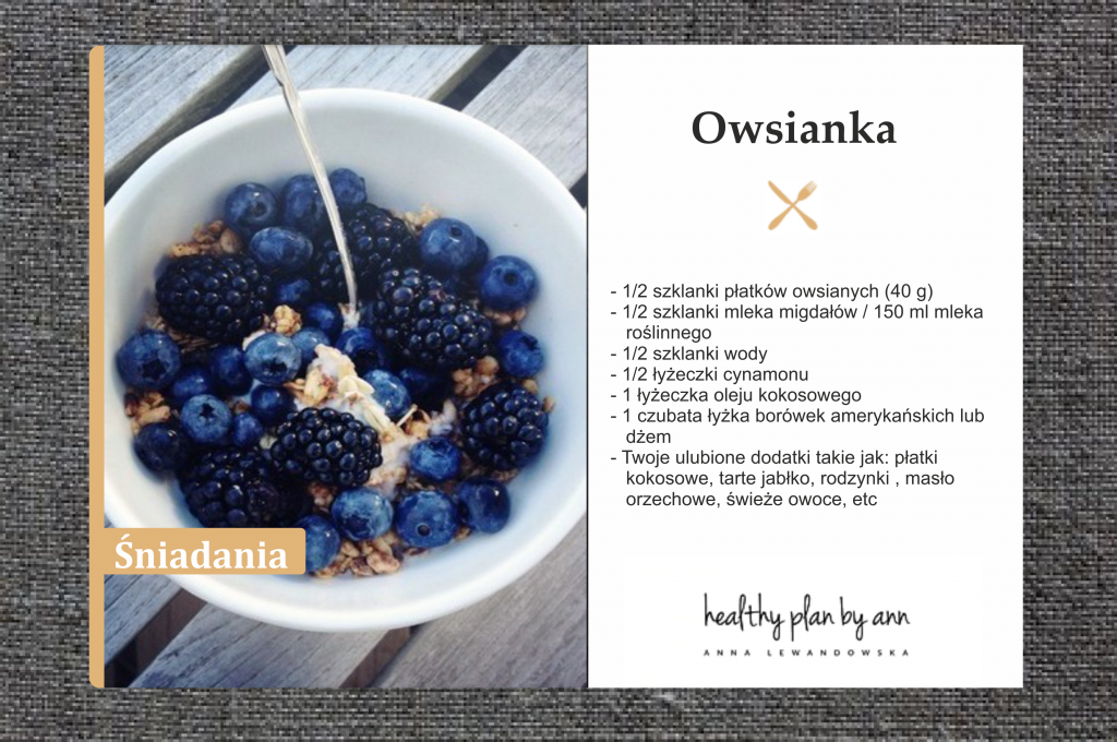 Porridge Anna Lewandowska Healthy Plan By Ann