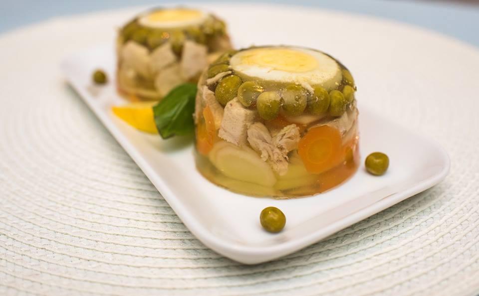 Collagen aspic with chicken and egg - Anna Lewandowska